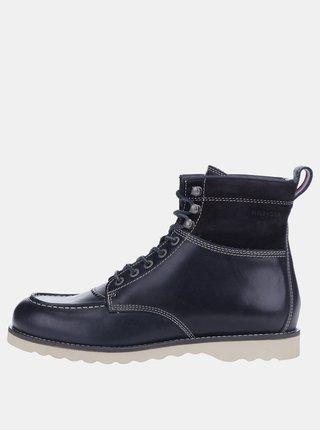4e24cf6670 Tmavomodré pánske kožené členkové topánky Tommy Hilfiger Rudy