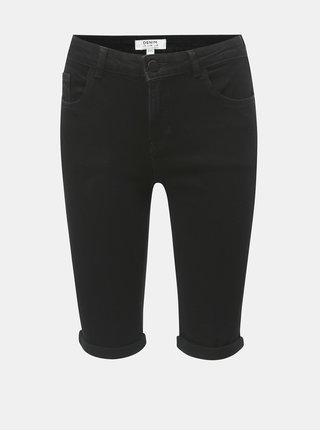 Pantaloni scurti negri regular fit din denim Dorothy Perkins