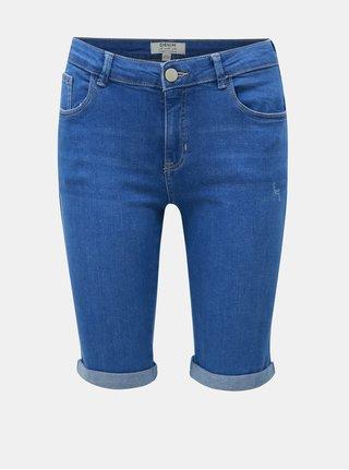 a30104d571fd Modré rifľové regular fit kraťasy Dorothy Perkins