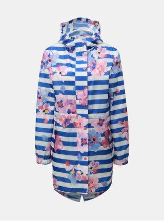 Jacheta parka alb-albastru lejera impermeabila cu model Tom Joule Golightly