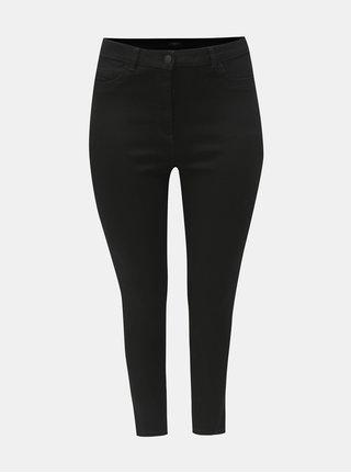 Černé zkrácené slim fit džíny M&Co Plus