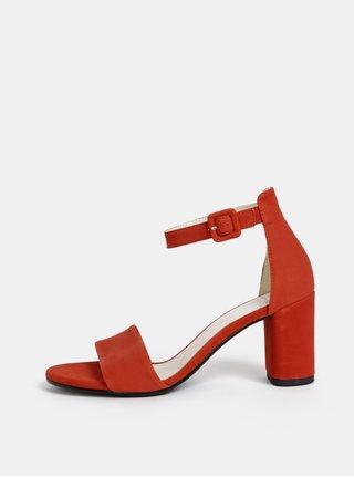 Sandale rosii din piele intoarsa Vagabond Penny
