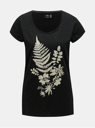 Černé dámské tričko s potiskem Maloja Dorta