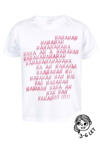 Bílé holčičí tričko ZOOT Kids Haha
