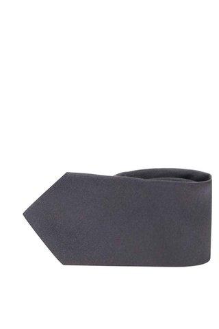 Cravata gri inchis din matase - Selected Homme Plain
