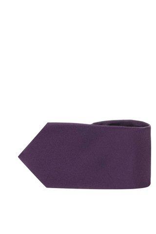 Cravata violet inchis din matase - Selected Homme Plain