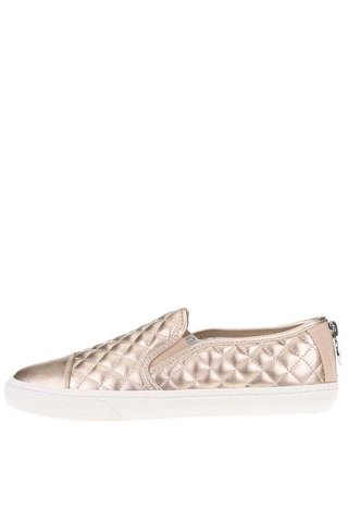 Pantofi slip on de dama GEOX New Club bronz