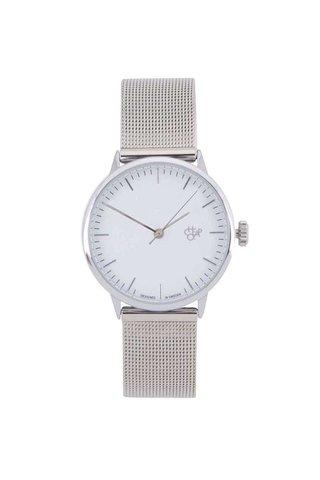 Ceas argintiu cu bratara metalica pentru femei -  CHPO Nando Mini Silver