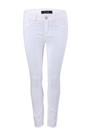 Bílé úzké kalhoty VILA Commit