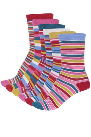 Set format din 6 sosete cu dungi  pentru femei Oddsocks Stripes