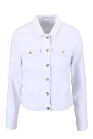 Jacheta alba crop din denim ONLY New