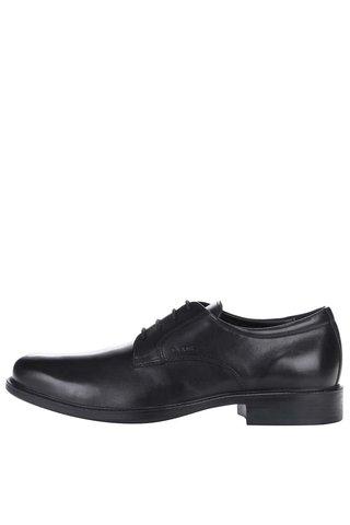 Pantofi negri din piele naturala pentru barbati - Geox Carnaby