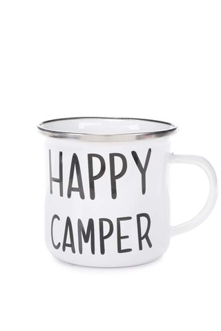 Cana metalica Sass & Belle Happy Camper alba