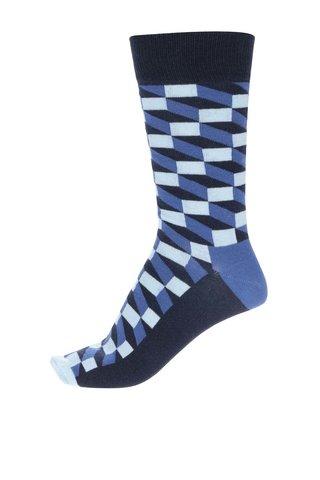 Modré pánské ponožky Happy Socks Filled Optic