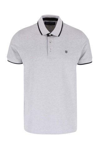 Tricou polo gri deschis - Jack & Jones Paulos