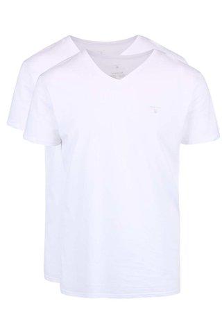 Set de 2 tricouri albe GANT din bumbac