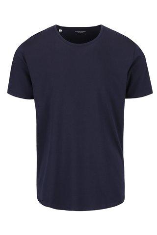 Tricou albastru inchis Selected Homme Pima