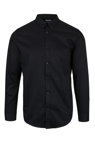 Camasa neagra Selected Homme Done slim fit