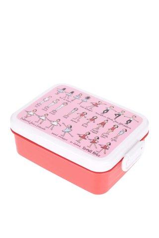 Cutie pentru gustari roz-rosu Tyrrell Katz Ballet pentru fete