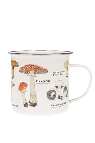 Cana metalica cu imprimeu ciuperci Gift Republic