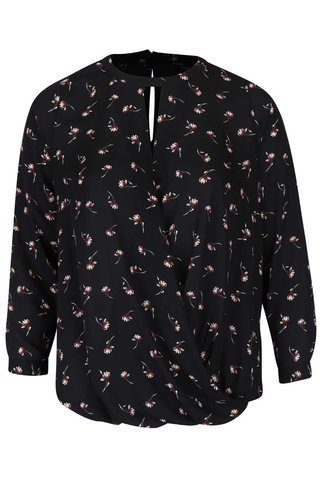 Bluza neagra cu print Dorothy Perkins Curve