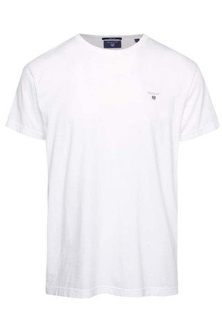 Tricou alb cu logo GANT