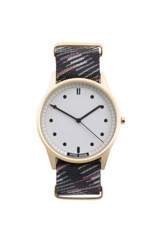 Ceas negru cu model HYPERGRAND pentru barbati