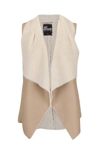 Světle hnědá vesta s umělým kožíškem Haily´s Tara