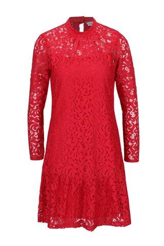 Rochie rosie Closet cu dantela