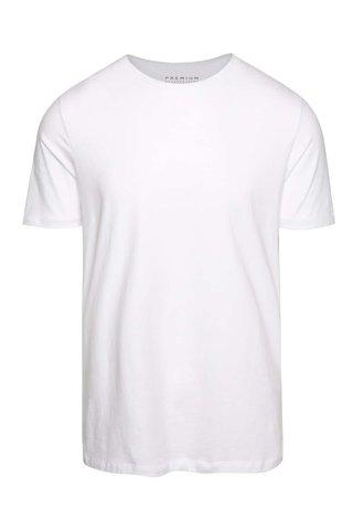 Bílé basic tričko s krátkým rukávem Jack & Jones Pima