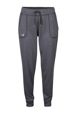 Pantaloni sport gri inchis pentru femei Under Armour Tech Pant Solid