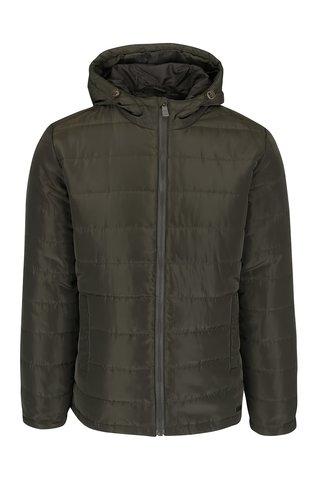 Tmavě zelená prošívaná bunda s kapucí ONLY & SONS Jonnie