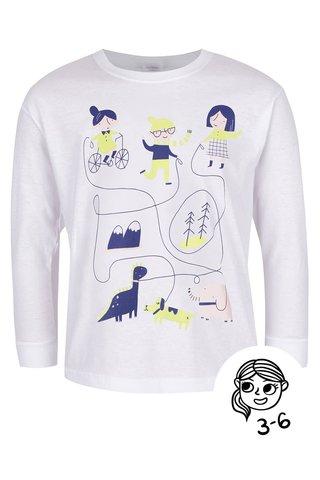 Bluza alba cu imprimeu ZOOT Kids Hra pentru fetite