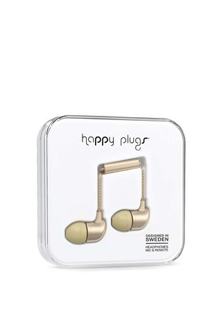 Casti in ear auriu mat Happy Plugs