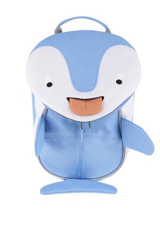 Rucsac albastru Affenzahn in forma de pinguin