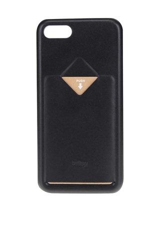 Černý kožený kryt pro iPhone 7 s přihrádkou na platební kartu Bellroy