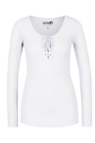 Bílé tričko s dlouhými rukávy a šněrováním Haily´s Britta