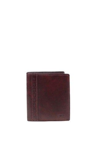 Tmavě hnědá kožená peněženka Dice Stenet