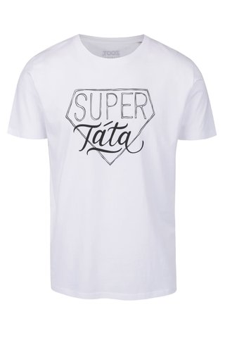 Bílé pánské tričko  ZOOT Originál Super táta