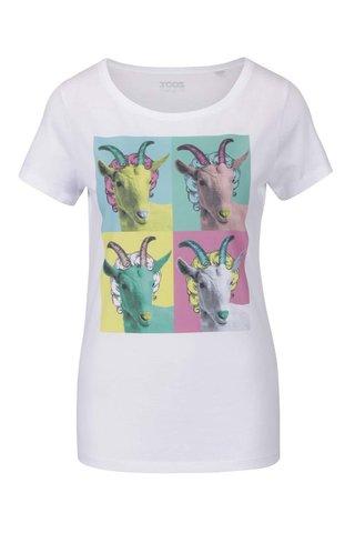 Bílé dámské tričko ZOOT Originál Warhol kozy
