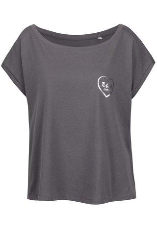 Tmavě šedé dámské oversize tričko ZOOT Originál Nebuď kretén