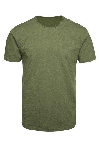 Khaki žíhané tričko  ONLY & SONS Albert