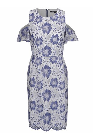Rochie alba cu model floral French Connection Antonia