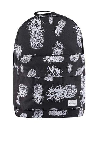 Černý unisex batoh s motivem ananasů Spiral Pineapple 18 l