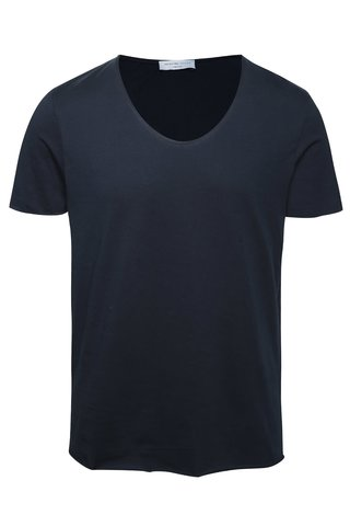 Tmavě modré tričko Selected Homme Merce