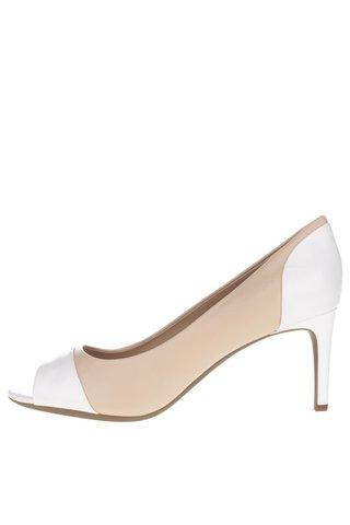 Pantofi crem & alb Geox Audie din piele