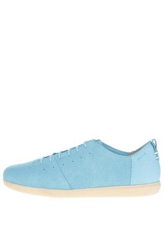 Pantofi sport turcoaz din piele intoarsa pentru femei Geox New Do C