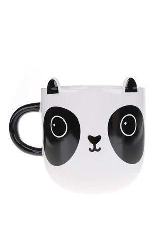 Černo-bílý keramický hrnek s pandou Sass & Belle Aiko Panda Kawaii