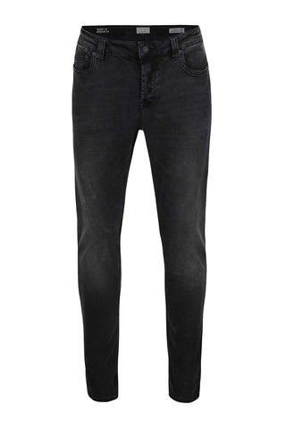 Černé vyšisované slim fit džíny ONLY & SONS Loom