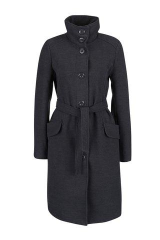 Tmavě šedý flaušový kabát Madonna